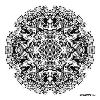 Mandala drawing 34 by Jim Gogarty