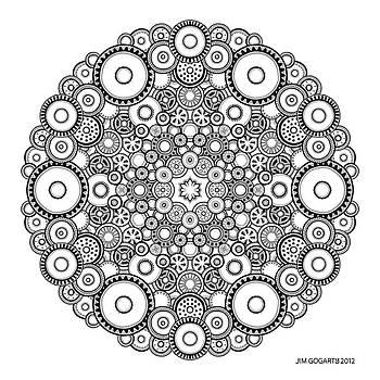 Mandala drawing 37 by Jim Gogarty