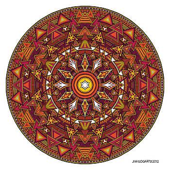 Mandala Hand Drawing 44 colourized by Jim Gogarty