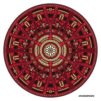 Mandala Hand Drawing 45 colourized by Jim Gogarty