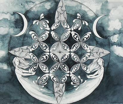 Mandala In Gray by Andrea Thompson