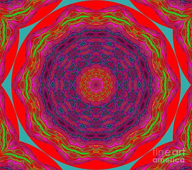 Mandala red by Anita Antonia Nowack