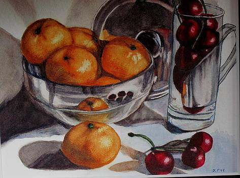 Joan Pye - Mandarins and Cherries