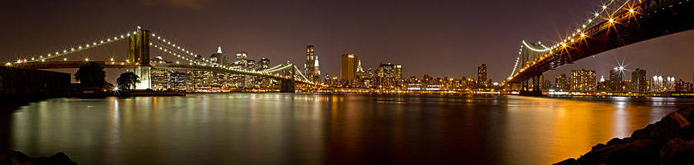 Val Black Russian Tourchin - Manhattan at Night Panorama 4