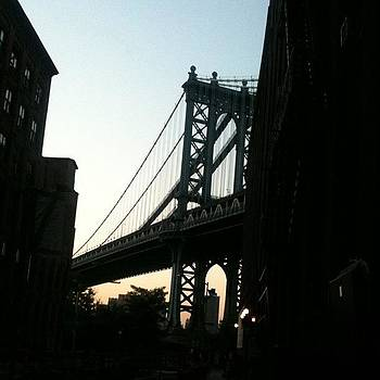 Manhattan Bridge at Dusk by Fern Fiddlehead