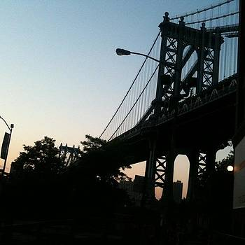 Manhattan Bridge at Dusk II by Fern Fiddlehead