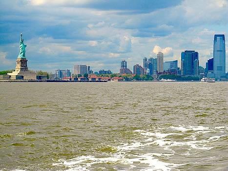 Manhattan Harbor by Malcolm B Smith