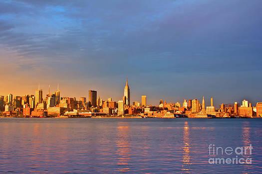 Manhattan Skyline at Golden Hour by Archana Doddi
