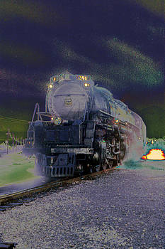 Manipulated Train - 1 by Randy Muir