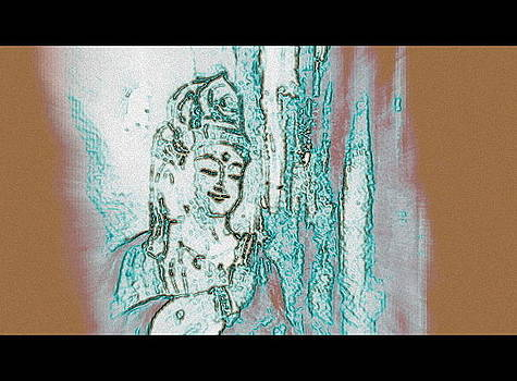 Many Faces Of Kuan Yin - Third      by Wendy Wiese
