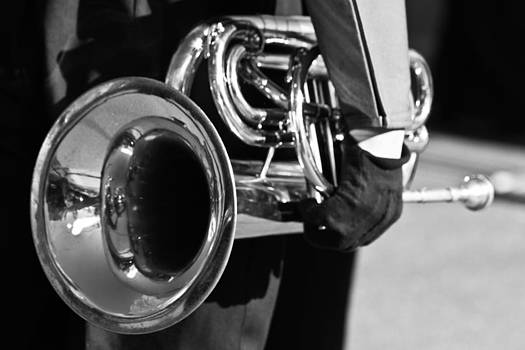 James BO  Insogna - Marching Band Horn BW