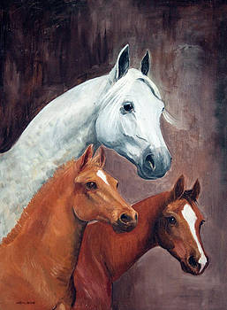 Mare and Colts by LaReine McIlrath