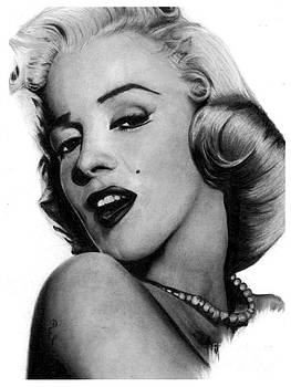 Marilyn Monroe Original Pencil Drawing by Debbie Engel