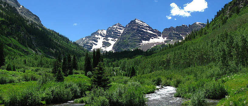 Maroon Bells Panorama by Bill Kennedy