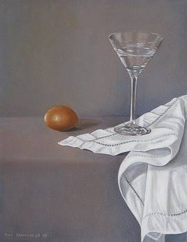 Martini Glas with Egg II by Pera  Schillings