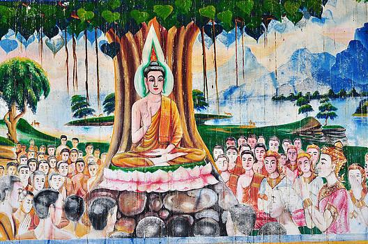 masterpiece of traditional Thai style painting art by Nittaya Tungsupatawat