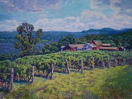 Mattabassett Range from Gouveia Vineyards by Roseann Berluti