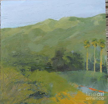 Mayacamas and palms by Candi Edmondson