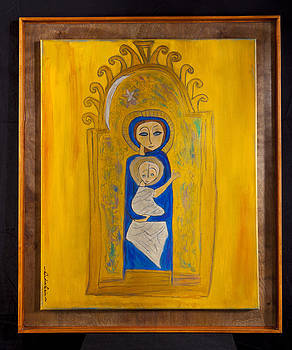 India Cain - Medieval Madonna and Child