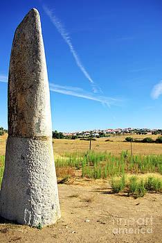 Megalithic monument menir of Bulhoa Monsaraz by Inacio Pires