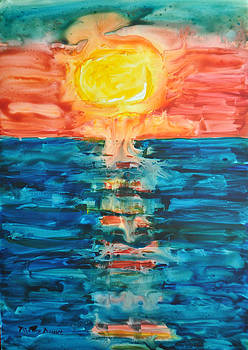 Melting Sunset 3 by Mickey Krause