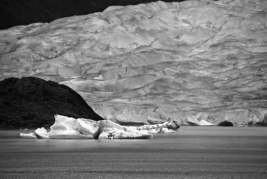 Marilyn Wilson - Mendenhall Glacier BW
