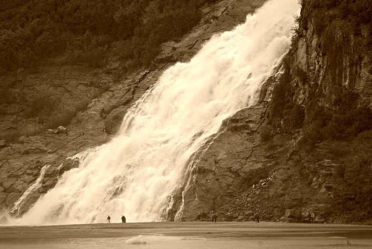 Marilyn Wilson - Mendenhall Glacier Nugget Falls sepia