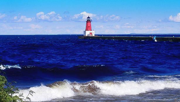 Ms Judi - Menominee Michigan North Pier Lighthouse