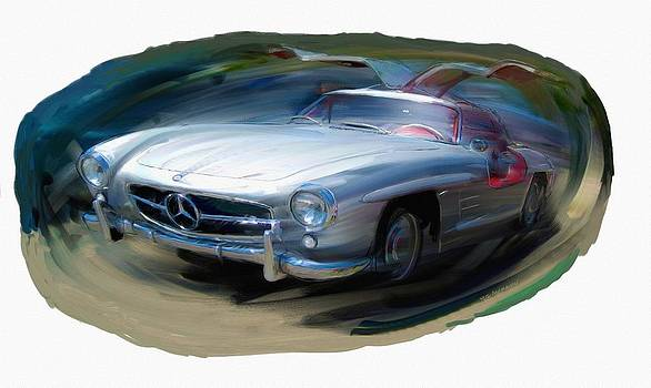Mercedes Gullwing by RG McMahon