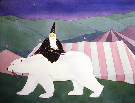 Merlin and White Bear by Irene Hipps