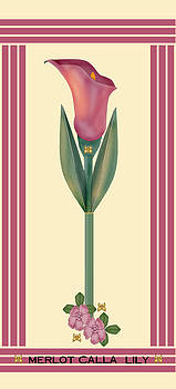 Merlot Calla Lily Banner by Anne Norskog