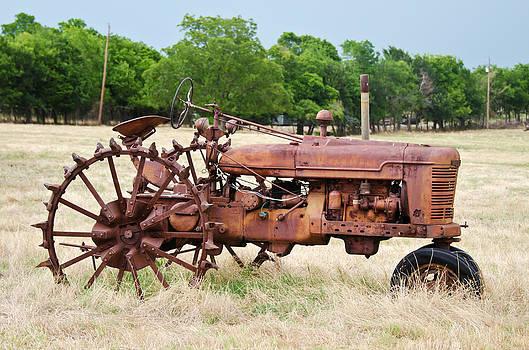 Metal Wheeled Farmall by Lisa Moore