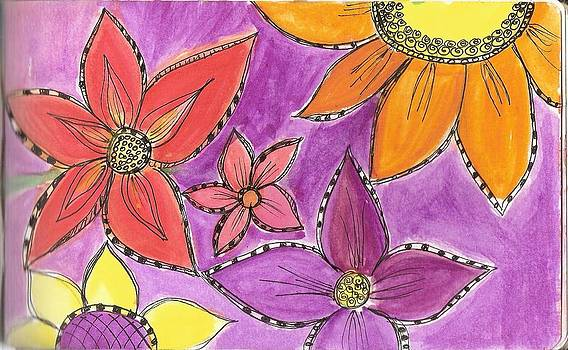 Mexican Flowers by Patricia Esparza