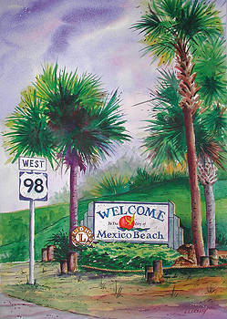 Mexico Beach sign on 98 by Chuck Creasy