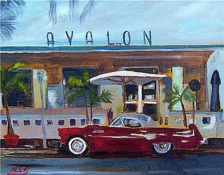 Miami Beach Avalon Thunderbird by Maria Soto Robbins