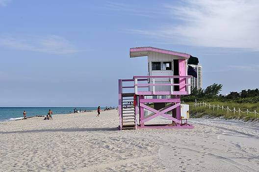 Miami Beach Life Guard Base by Andres LaBrada