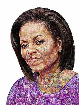 Michelle Obama with an Ipad by Edward Ofosu