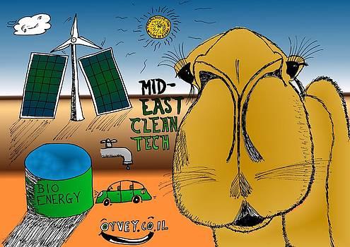 Mid-East Clean Tech Cartoon by Yasha Harari