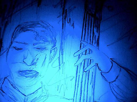 Forartsake Studio - Midnight Blue Bass Player
