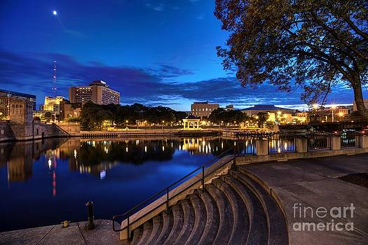 Milwaukee River Twilight view of Marquette Park by John December