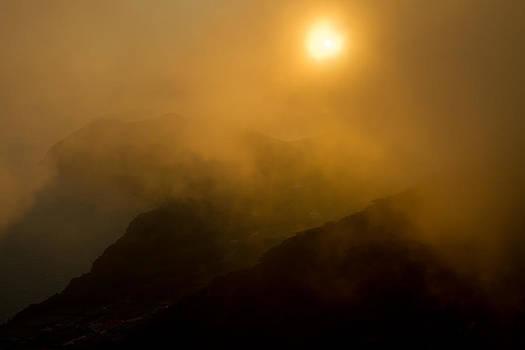 Misty Hongpo sunset South Korea by Gabor Pozsgai