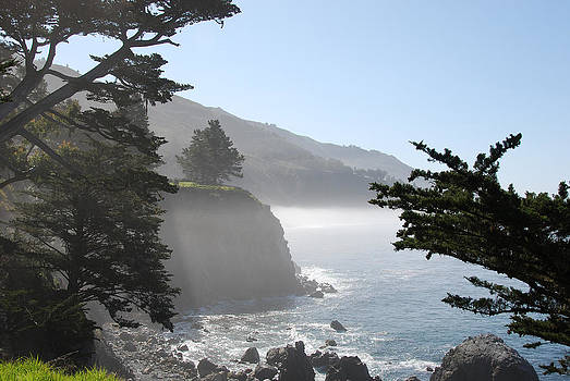 Misty morning on the Big Sur coastline by Camilla Brattemark