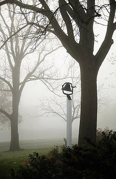 Misty school bell by Dick Wood
