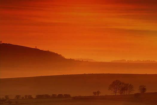 Misty Sunset by Mark Leader