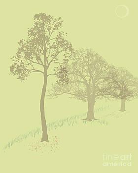 Misty Trees by Michelle Bergersen