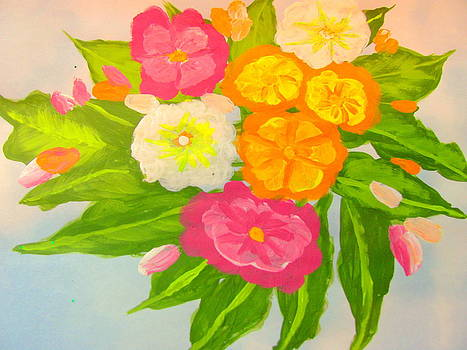 Mixed Impatiens by Amy Bradley