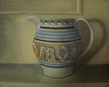 Mocha pitcher on mantle by Mark Haley