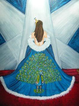Modeling The Peacock by Nancy L Jolicoeur