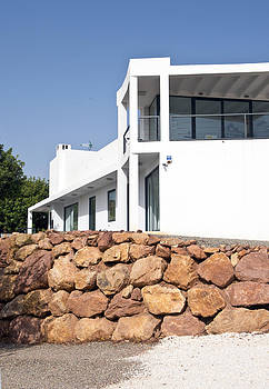 Modern White Mansion On A Hilltop by Corepics