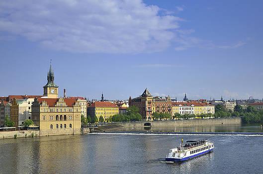 Moldavia river Prague by Travel Images Worldwide